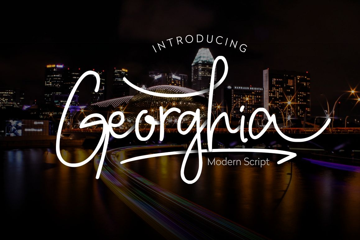 Georghia Modern Script Font example image 1