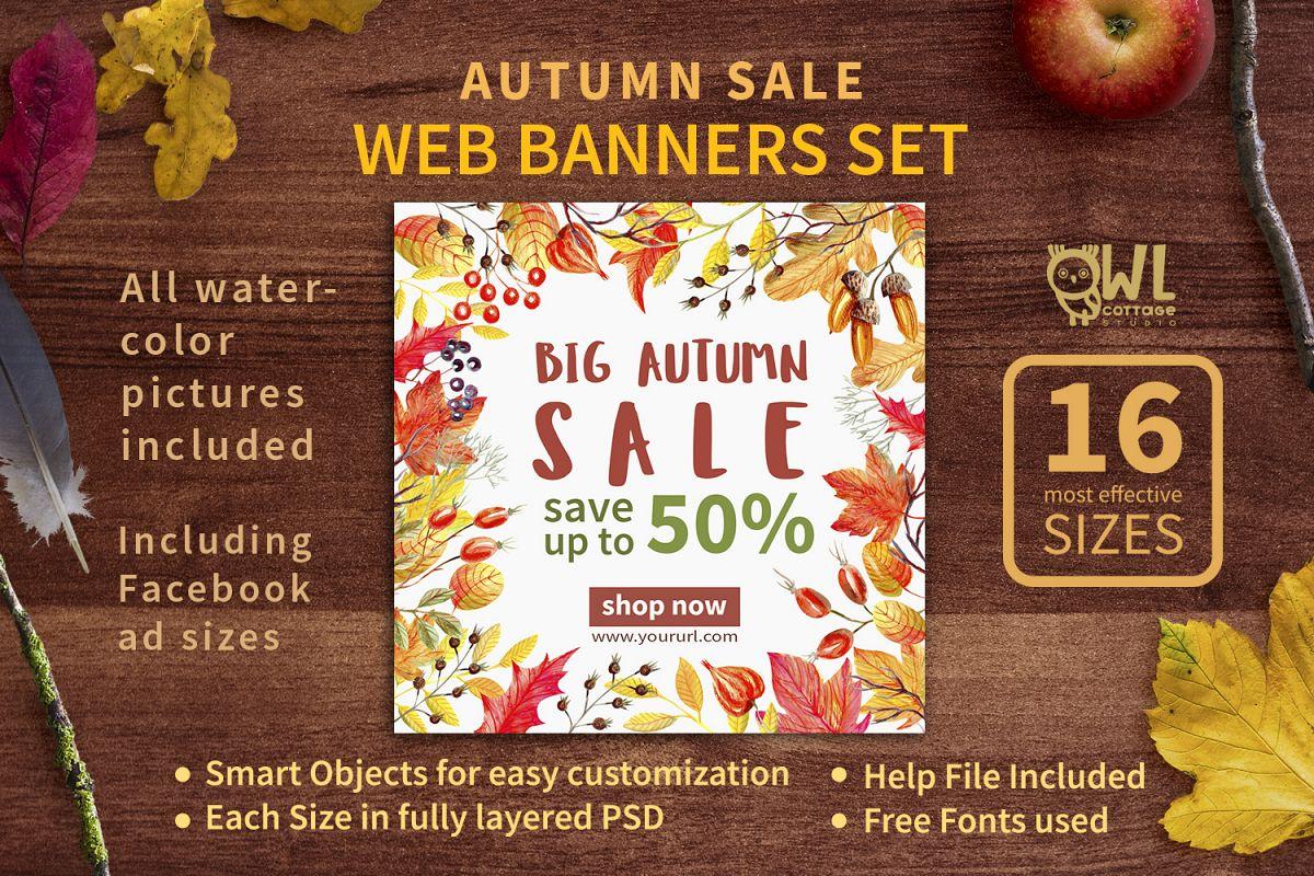 Autumn Sale Web Banners Set example image 1