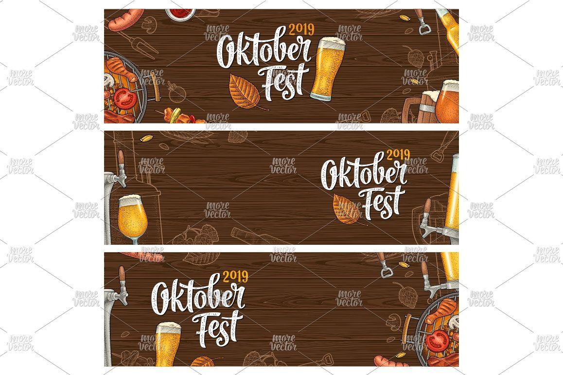 Horizontal posters to oktoberfest 2019 festival engraving example image 1