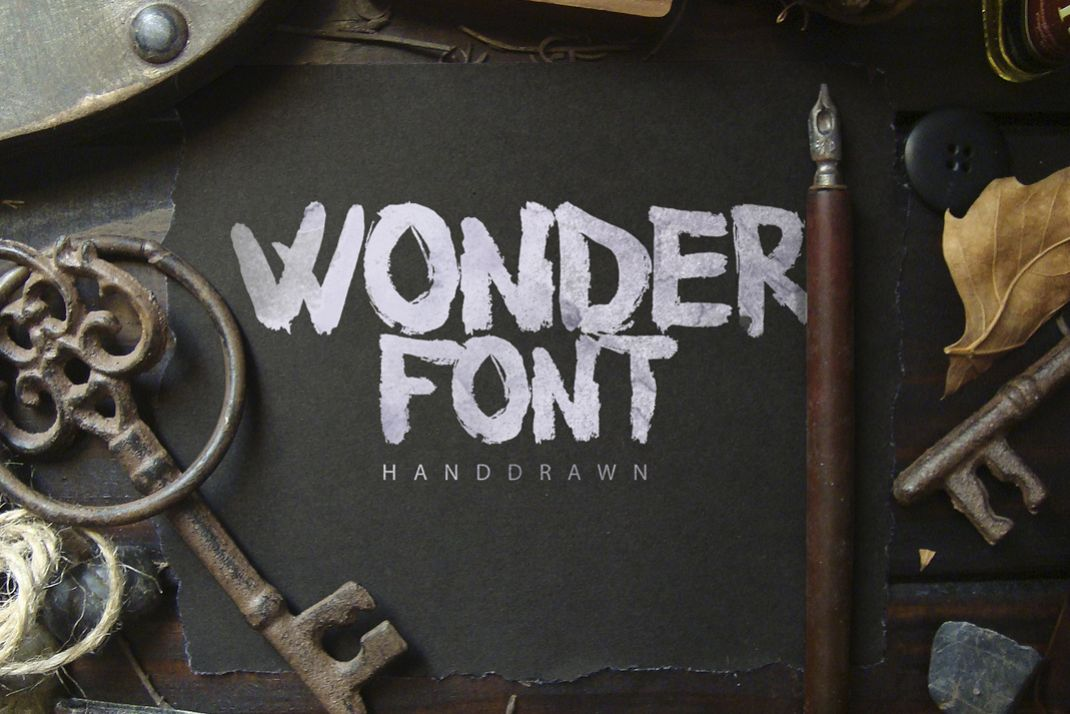 Wonderfont Brush Typeface example image 1