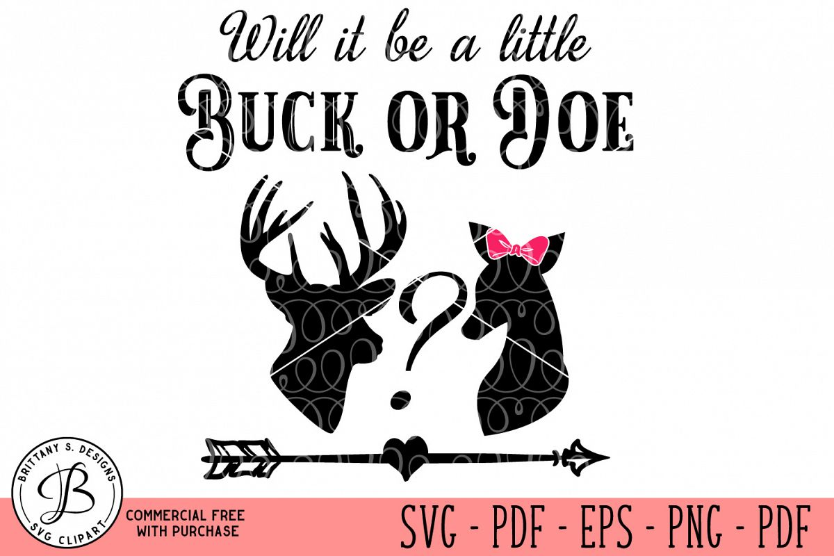 Buck or Doe SVG  example image 1