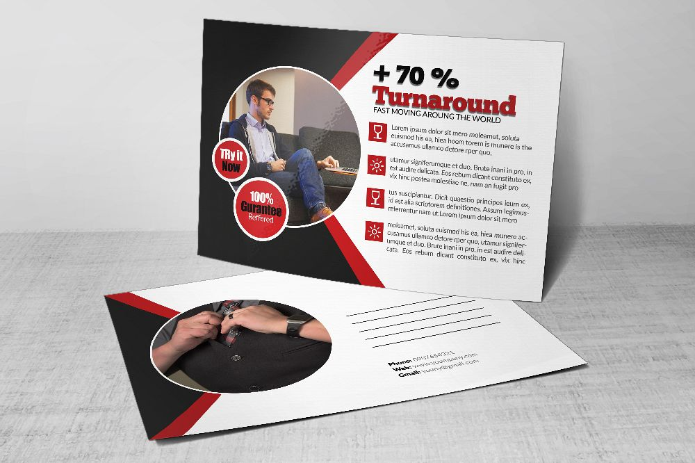 Business Postcards Templates example image 1