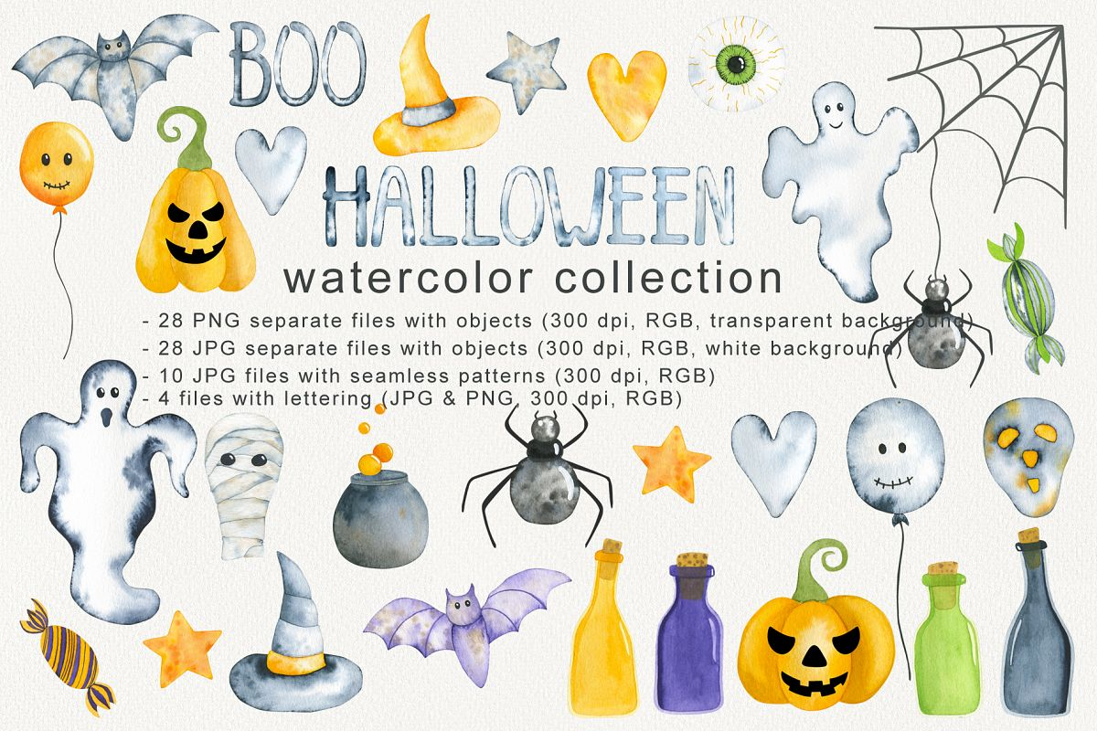HALLOWEEN WATERCOLOR COLLECTION example image 1