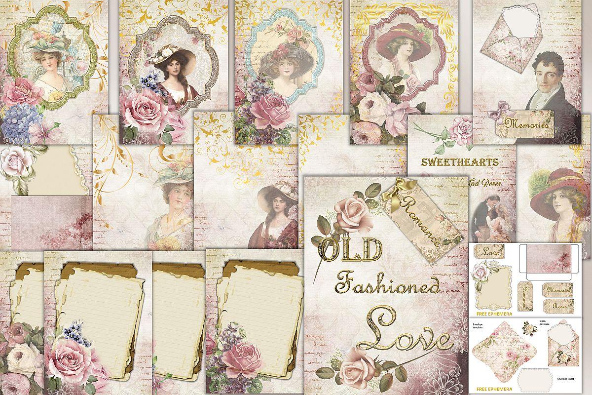 Printable Journaling Kit Victorian with FREE EPHEMERA cu example image 1