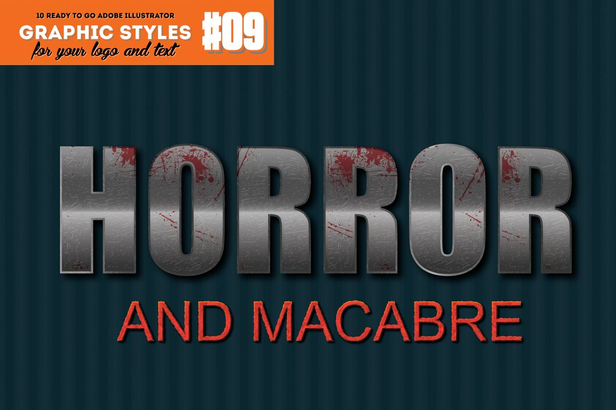 10 Horror Graphic Style for Adobe Illustrator example image 1