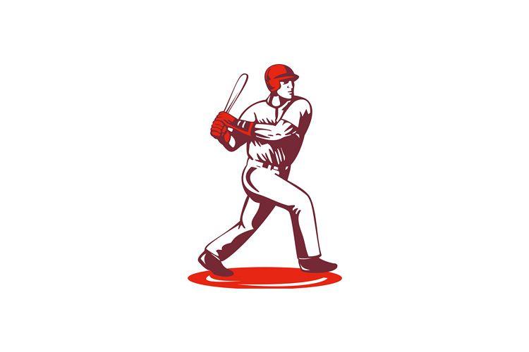 Baseball Player Retro example image 1
