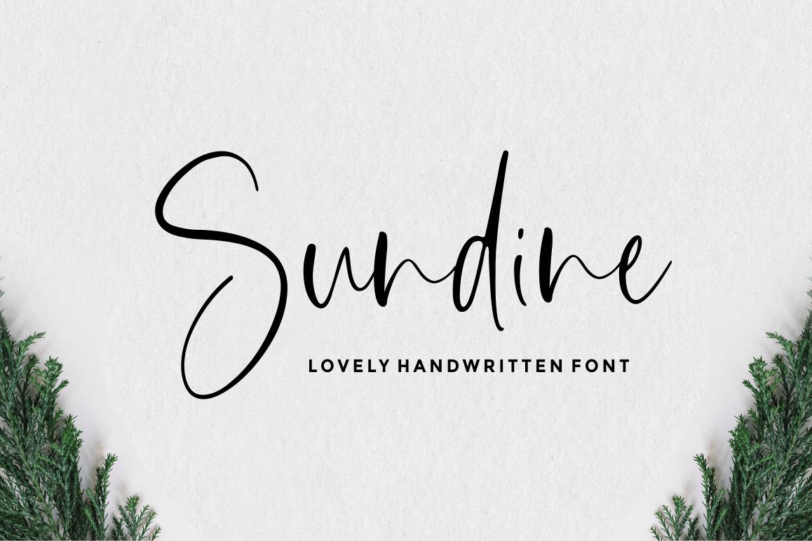 Sundine - Handwritten Font example image 1