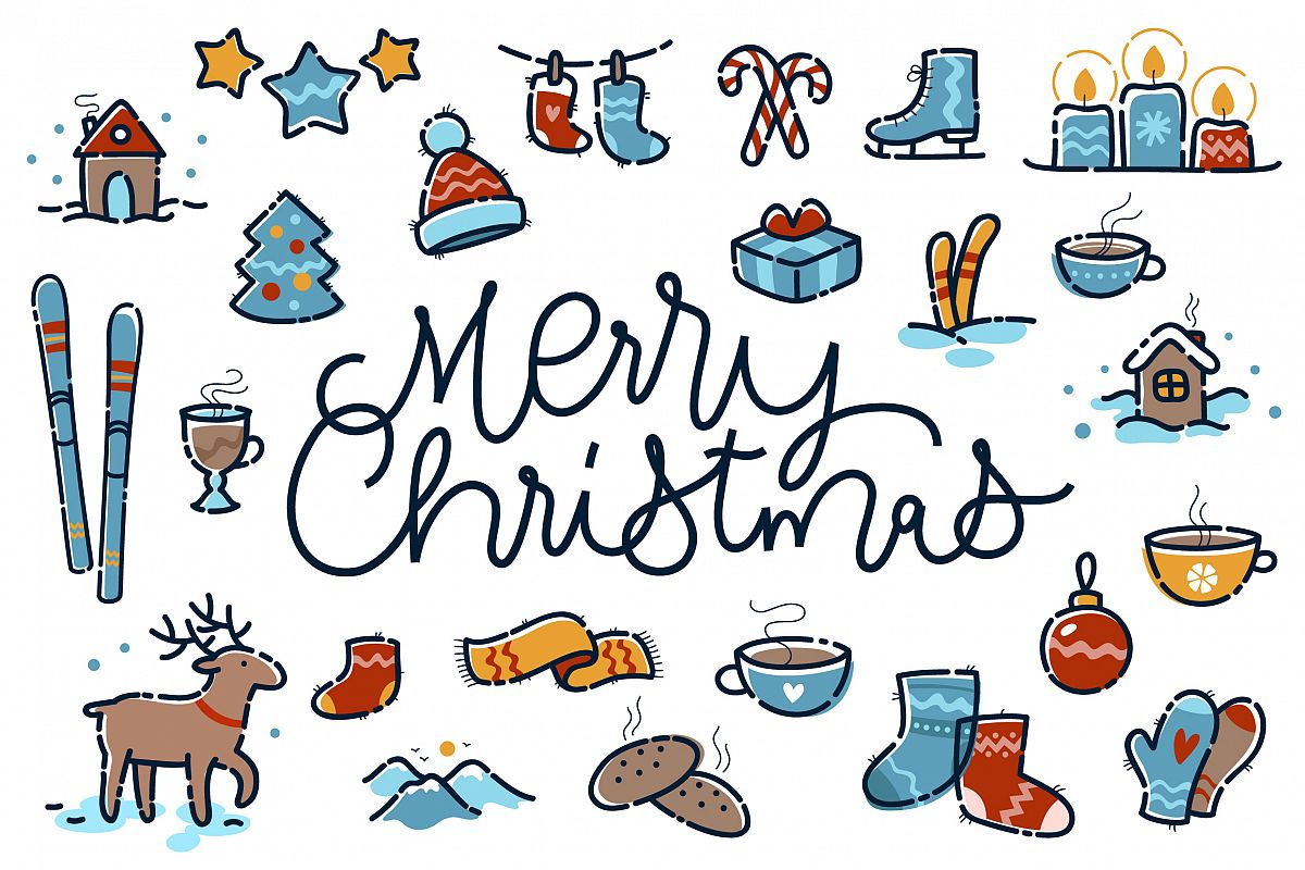 Merry Christmas small clipart example image 1