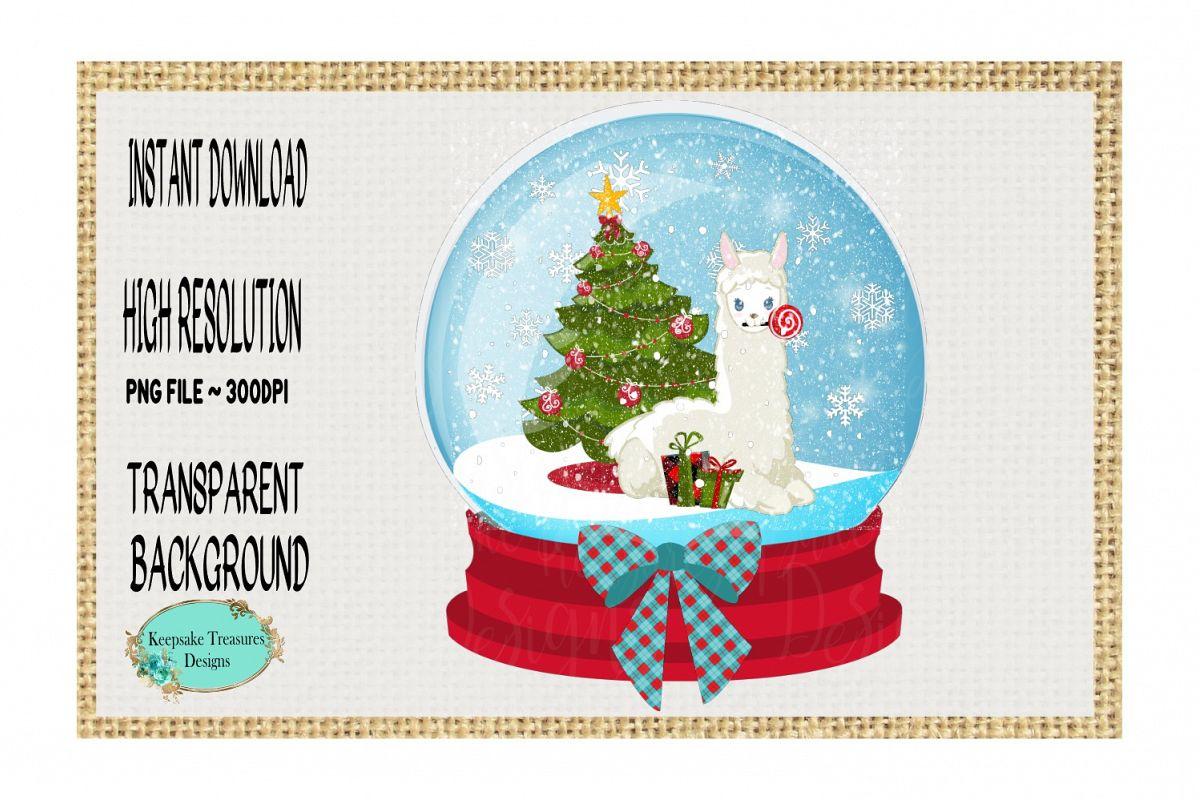 Christmas Llama.Christmas Llama Sown Globe