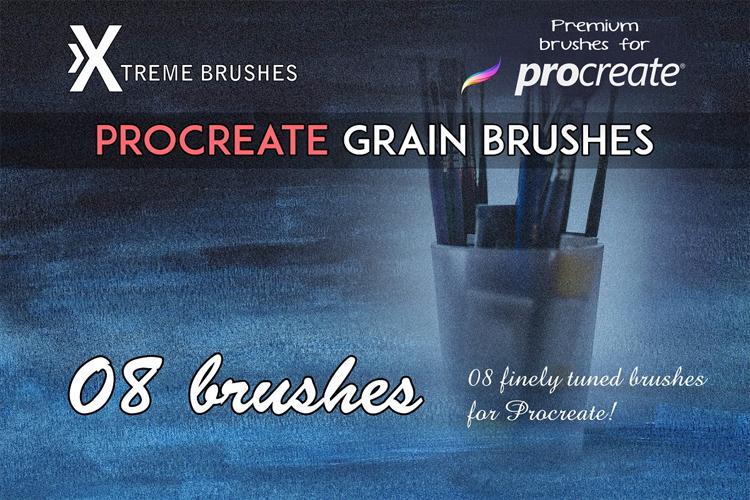 Procreate Grain Brushes example image 1