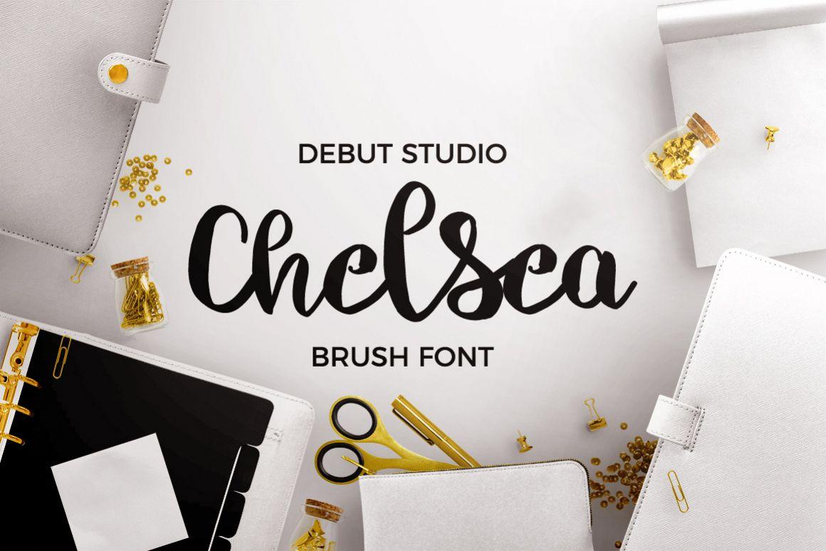 Chelsea Font Duo - Brush & Script example image 1