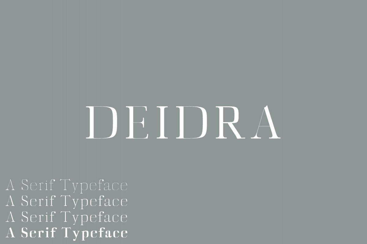 Deidra Serif Typeface example image 1