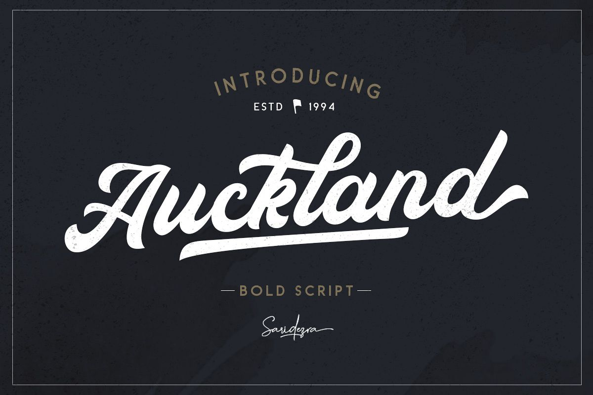 Auckland - Bold Script example image 1