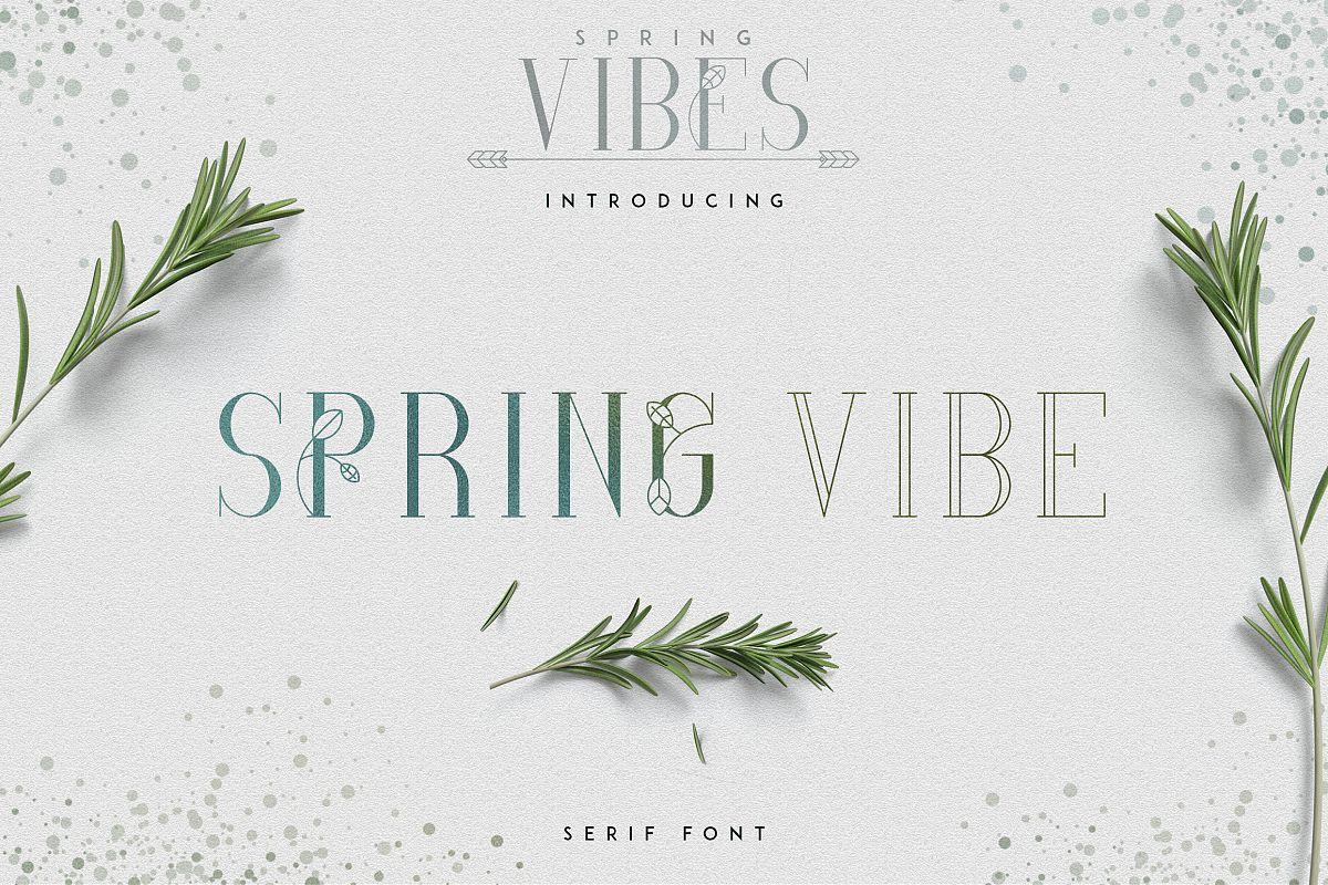 [Spring Vibes] Splendor Font example image 1