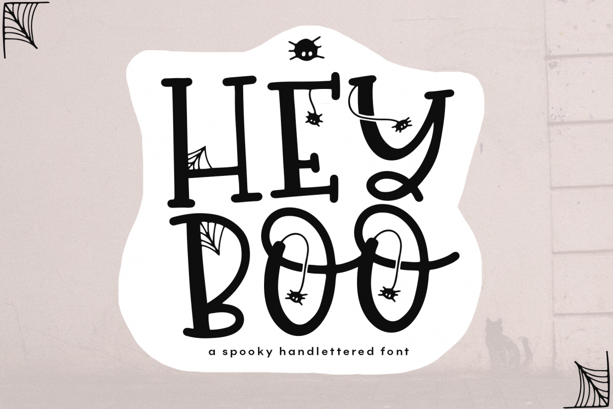 Hey Boo - A Quirky Halloween Font example image 1