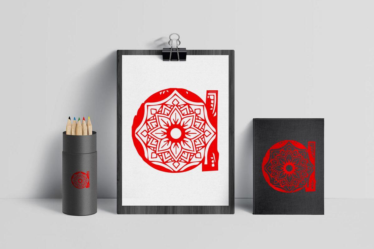 Wonderful Mandala Alphabet example image 1