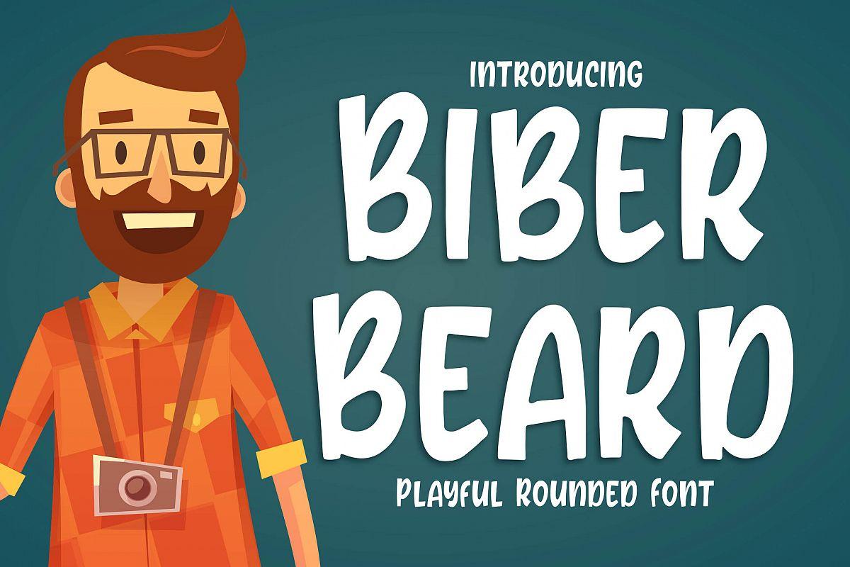 Biber Beard - Playful Rounded Font example image 1
