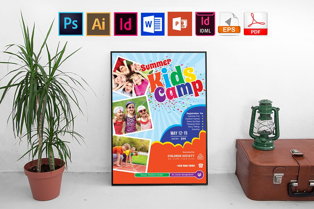 Poster | Kids Summer Camp Vol-03 example image 1