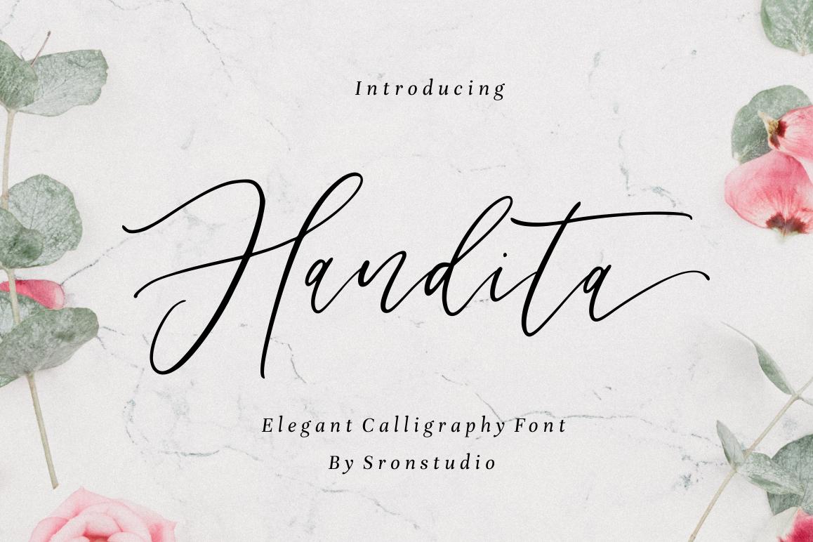 Handita - Calligraphy Font example image 1