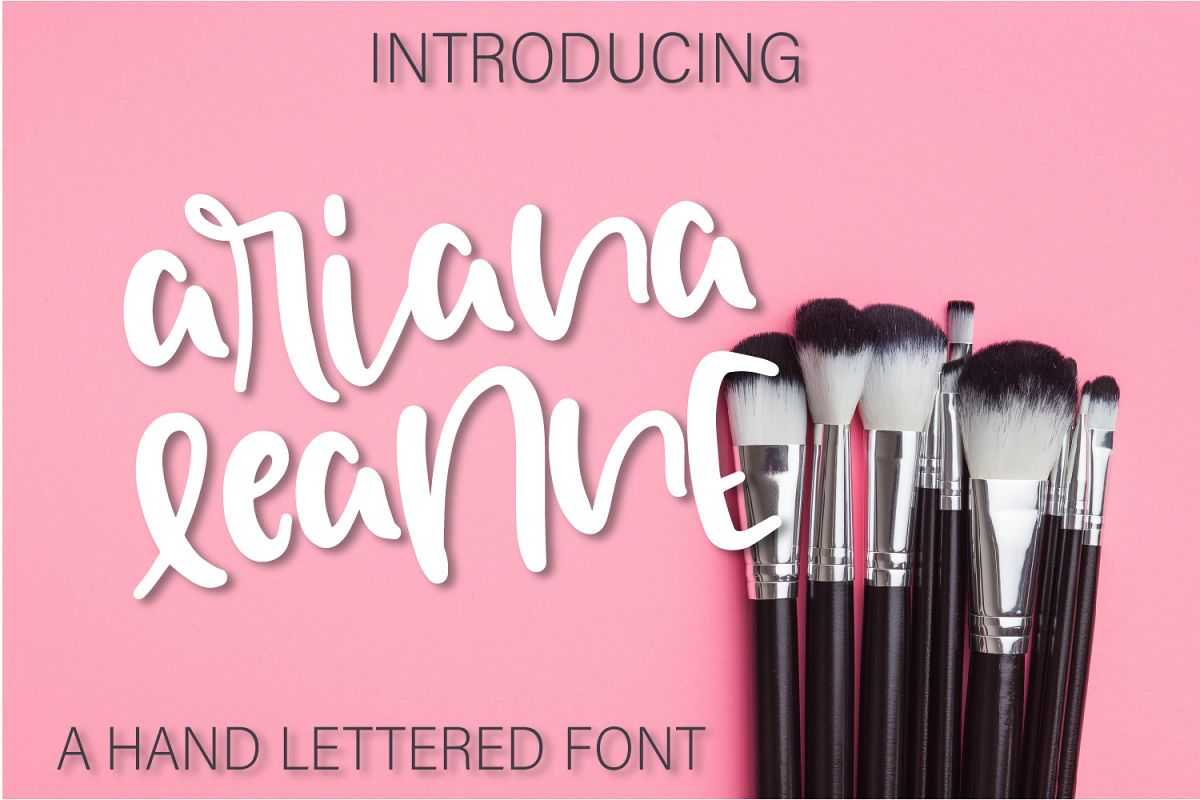 Ariana Leanne - A Hand Lettered Font example image 1