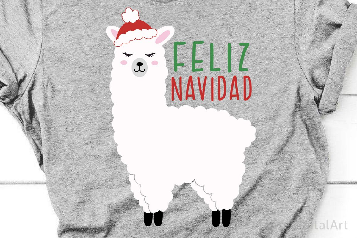 Merry Christmas Svg, Feliz Navidad Svg, Llama Svg, Funny Svg example image 1