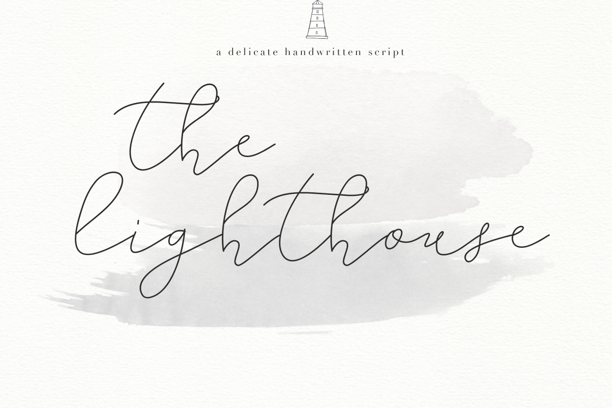 The Lighthouse - Delicate Script Font example image 1