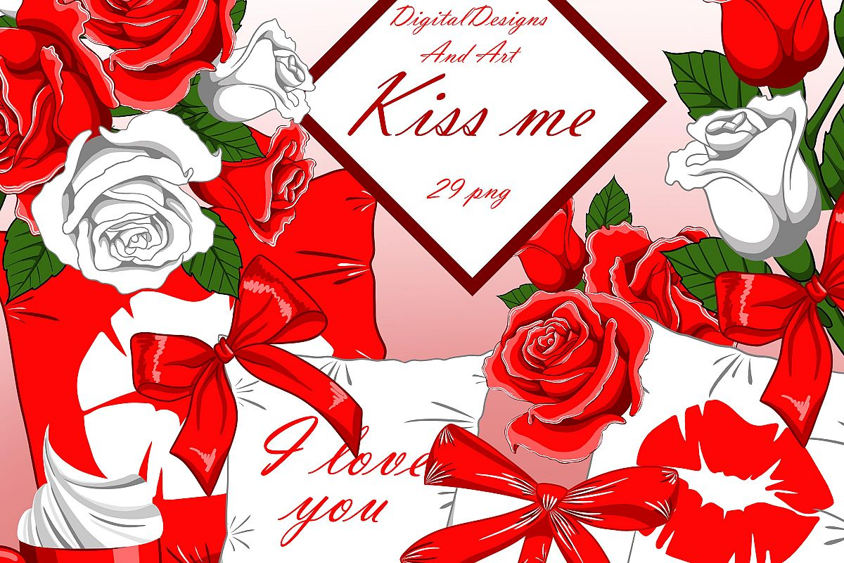Kiss me clipart example image 1
