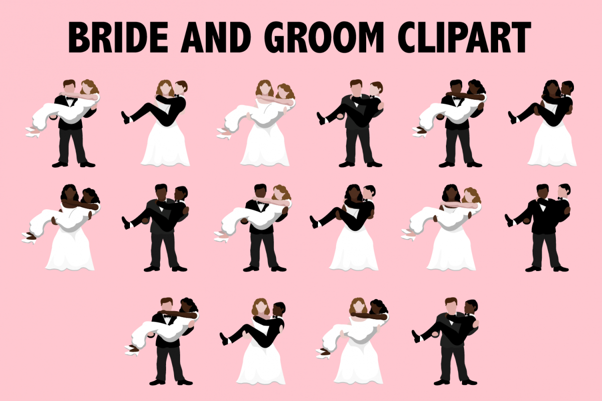 Bride and Groom Clipart example image 1