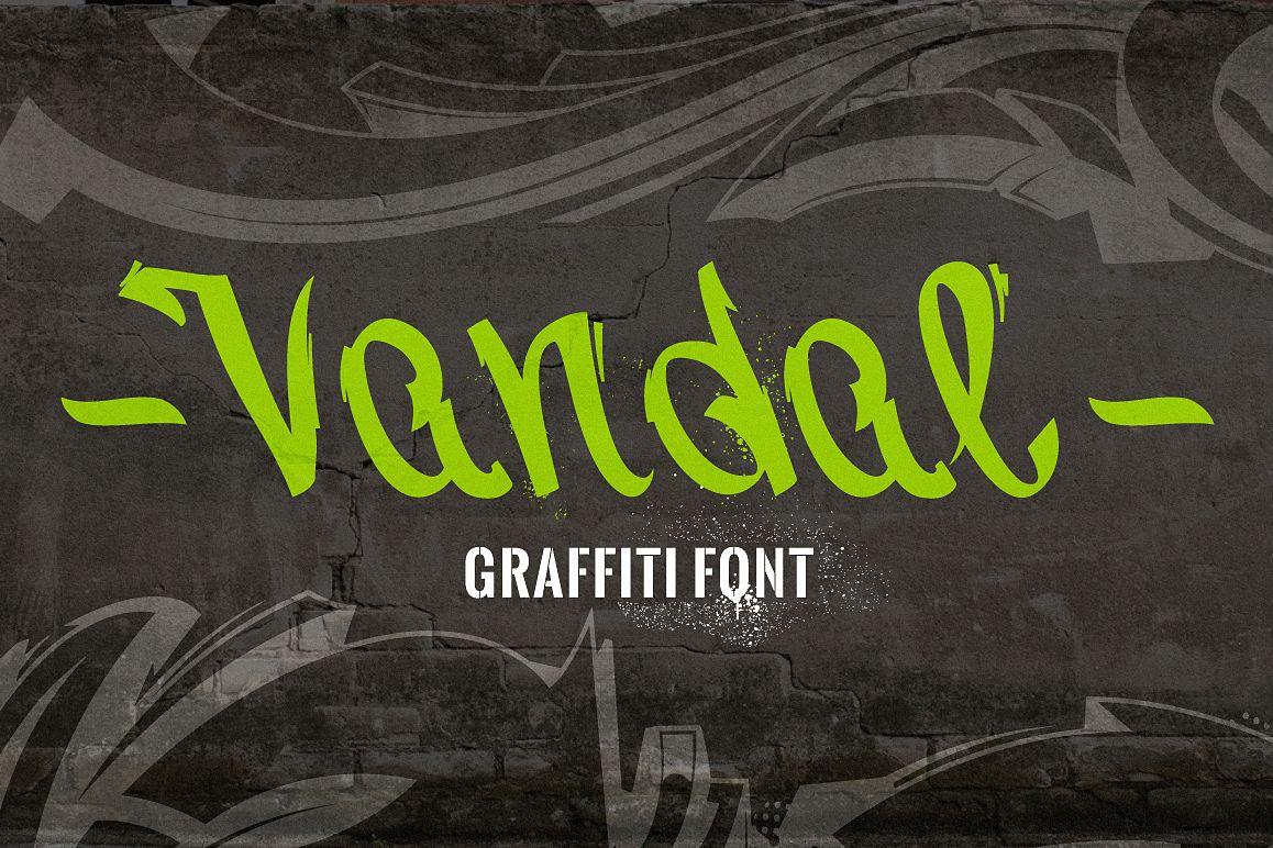 Vandal | Graffiti Font example image 1