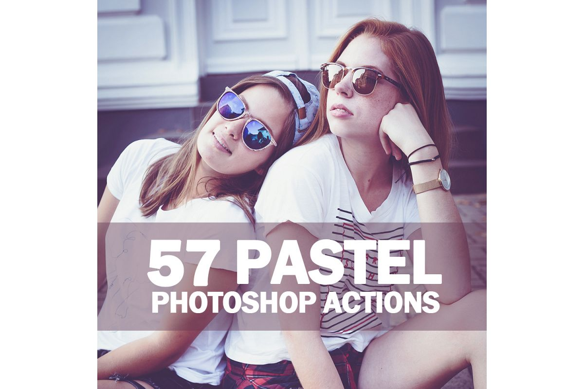 57 Pastel Photoshop Actions Collection (Action for photoshop CS5,CS6,CC) example image 1