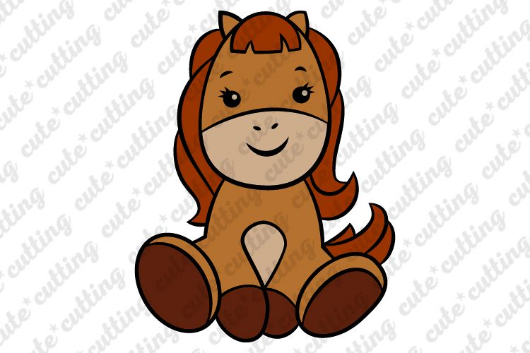 Horse svg, Baby horse svg, cutting file svg, dxf, png, jpeg example image 1
