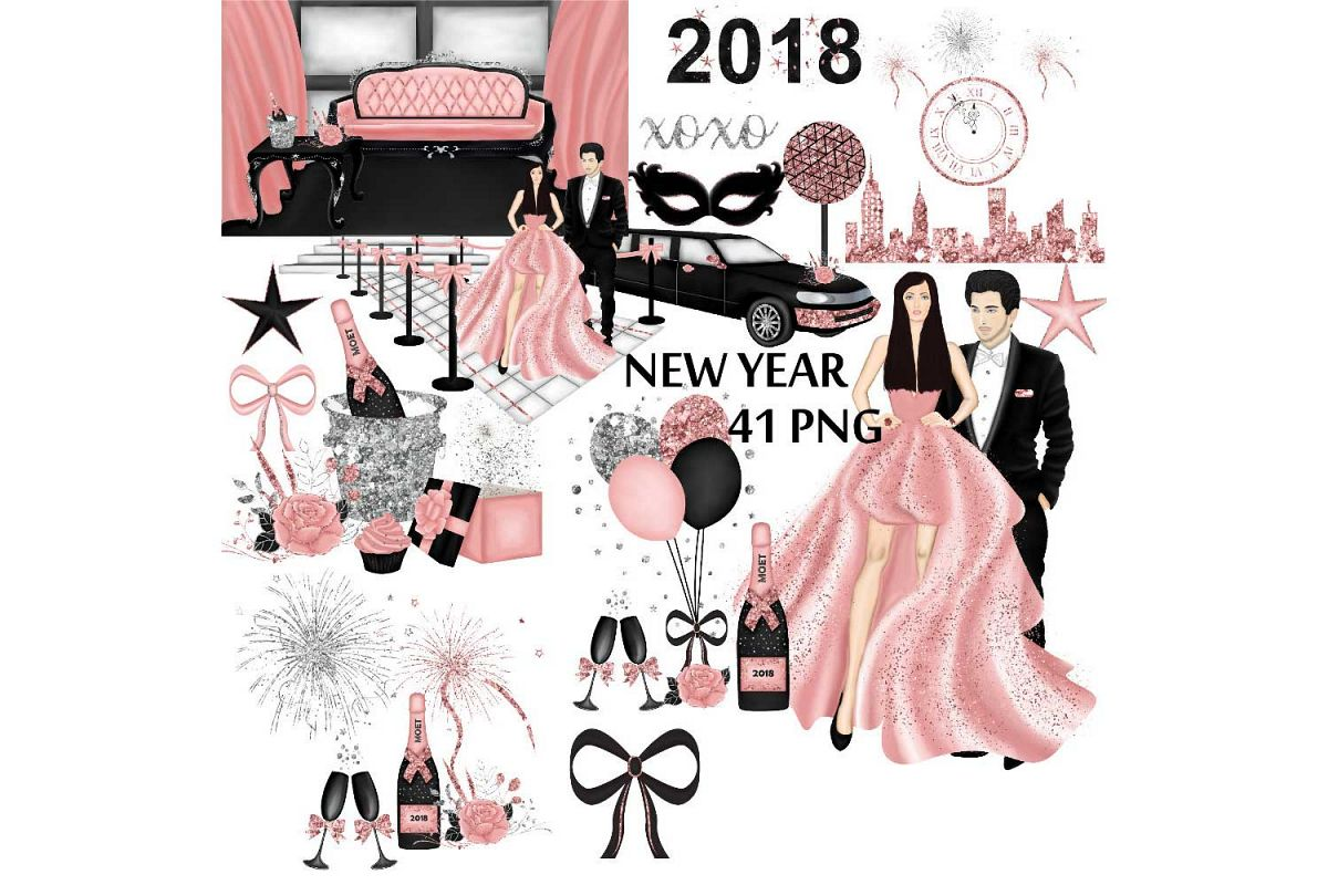 New Years Eve Clipart example image 1