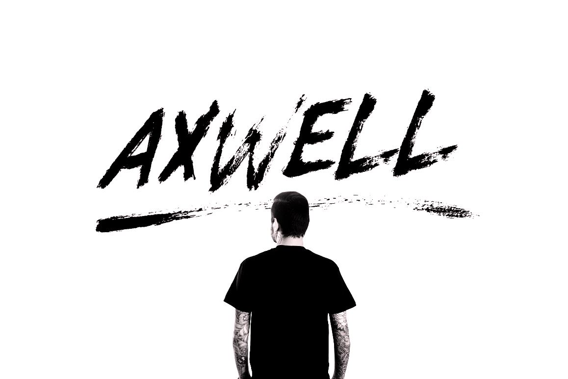 Axwell Brush Font example image 1
