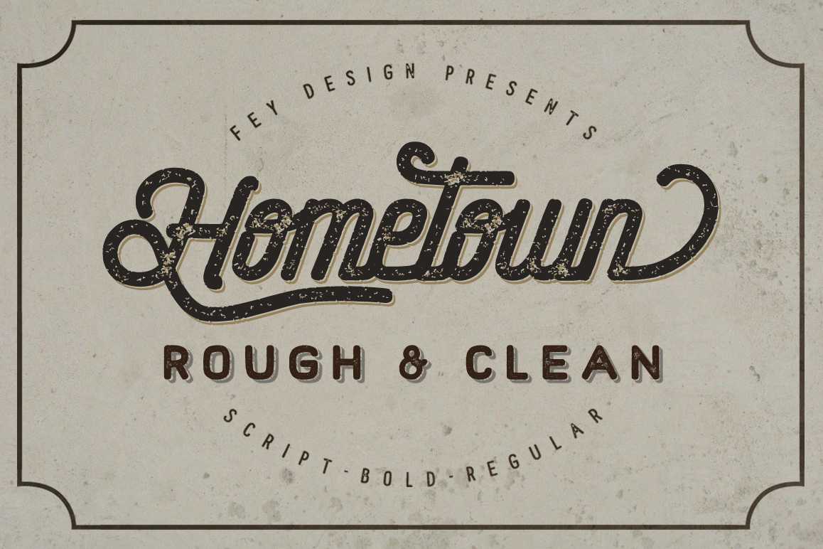 Hometown Clean And Rough Family example image 1