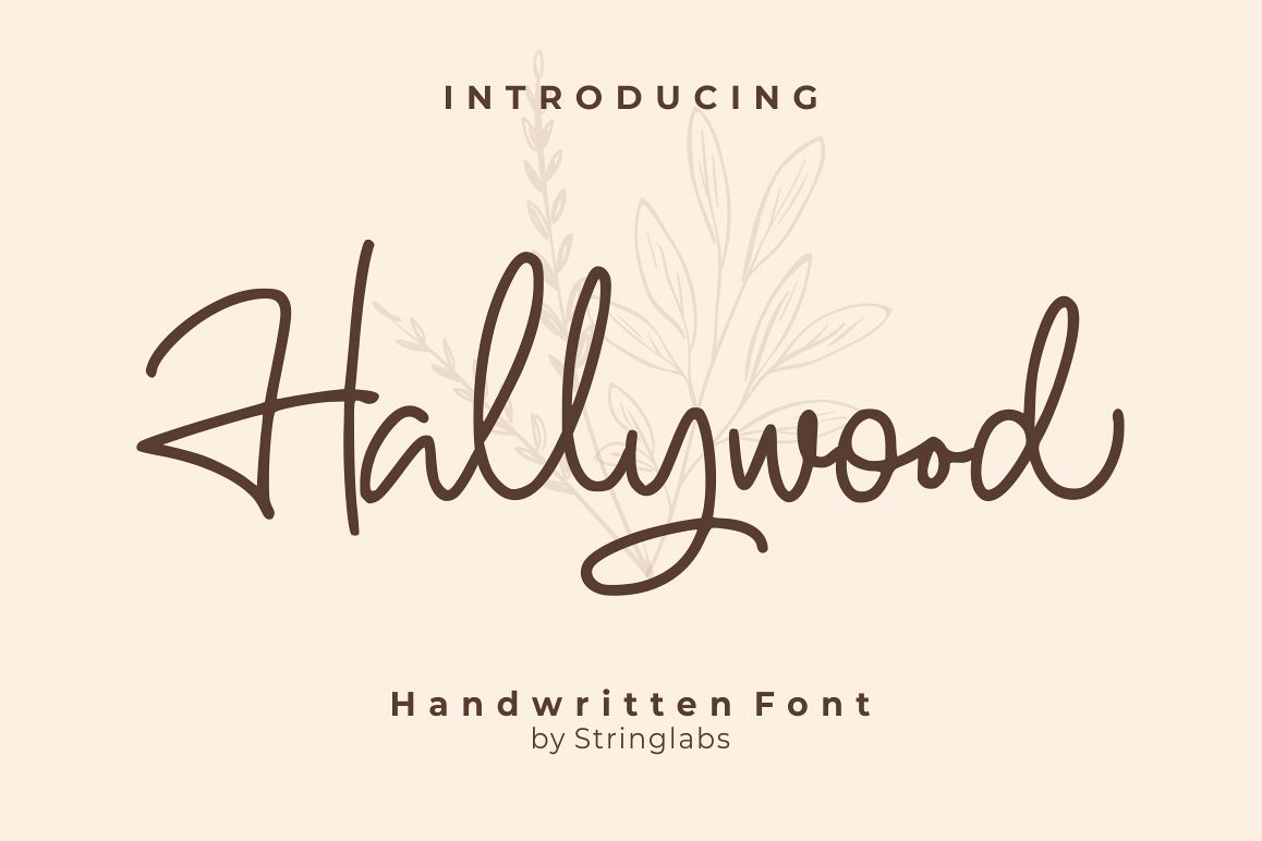 Hallywood - Handwritten Script Font example image 1