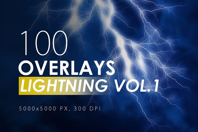 100 Lightning Overlays Vol. 1 example image 1