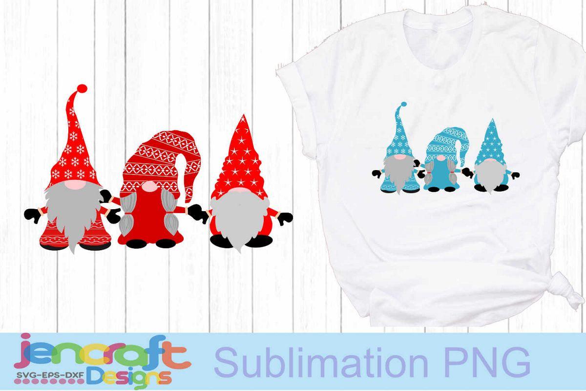 Christmas SVG - Nordic Gnome trio SVG Elf Clipart example image 1