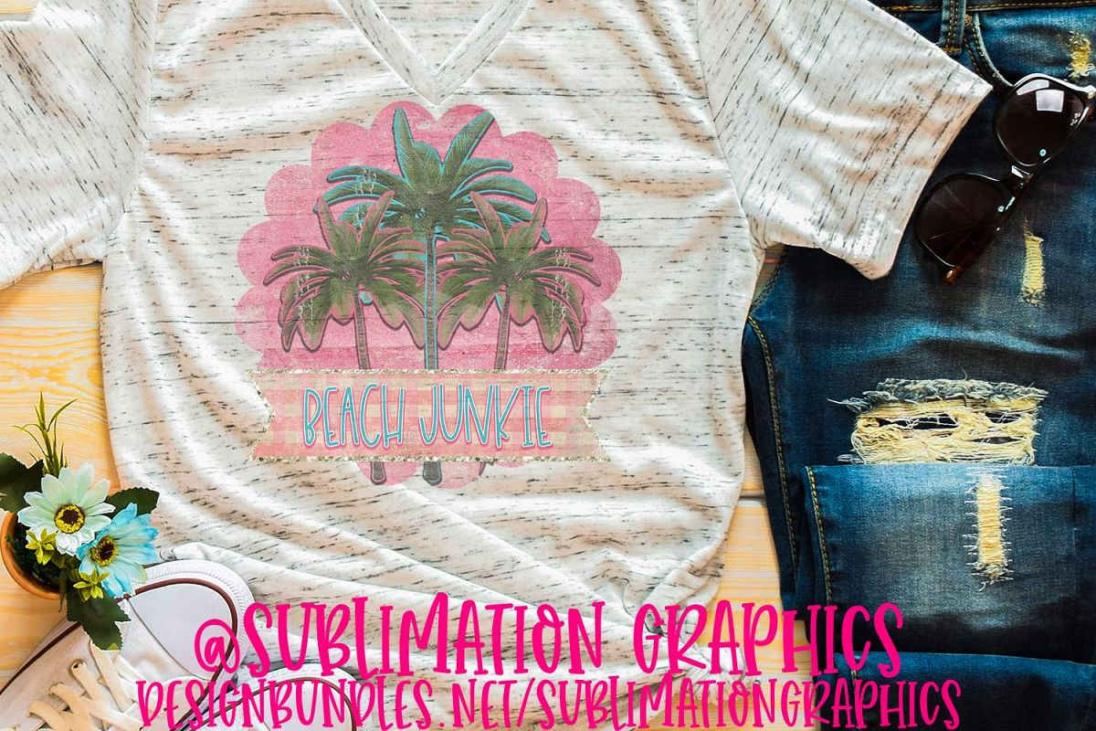 Beach Junkie Sublimation PNG example image 1