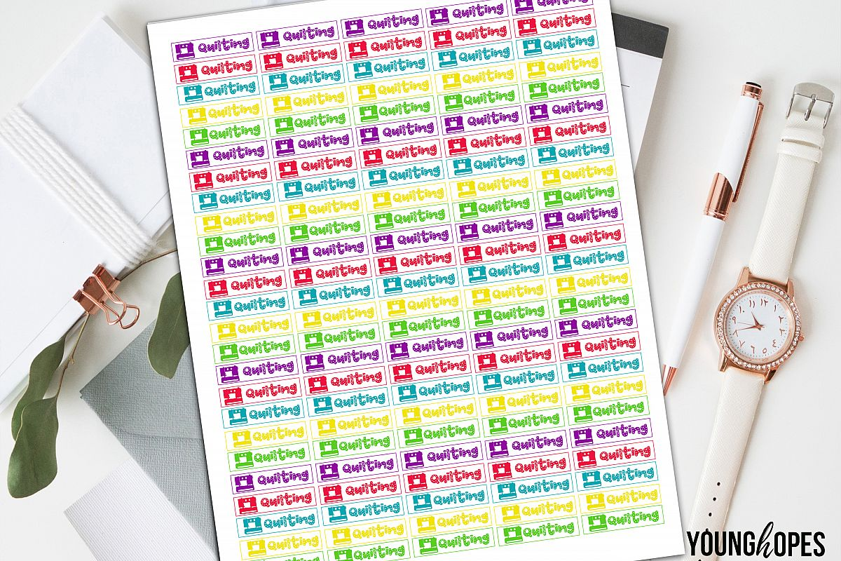 Quilting Planner Stickers-Sewing Planner Stickers example image 1