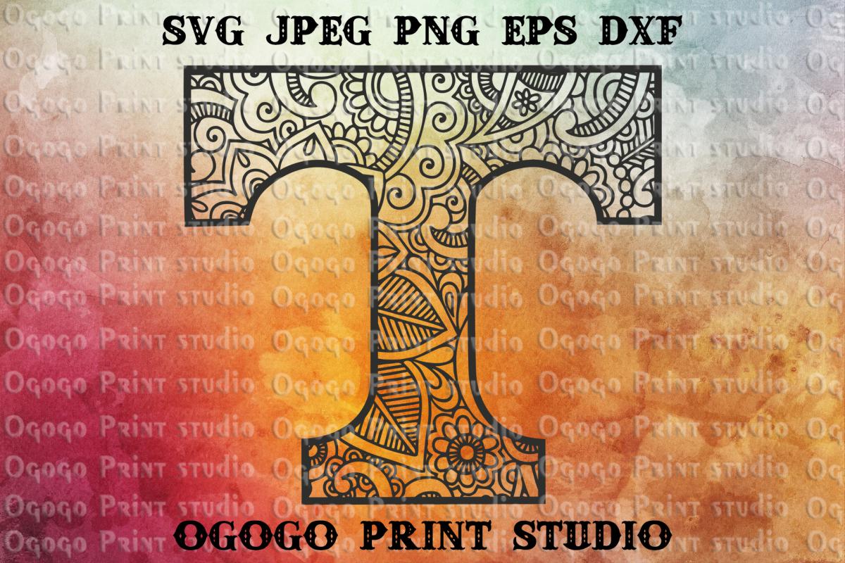 UT VOLS svg, Tennessee svg, Mandala svg, Zentangle SVG,Sport example image 1