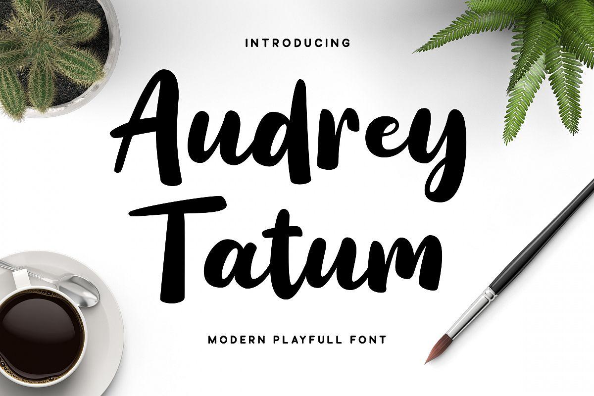 Audrey Tatum Font example image 1