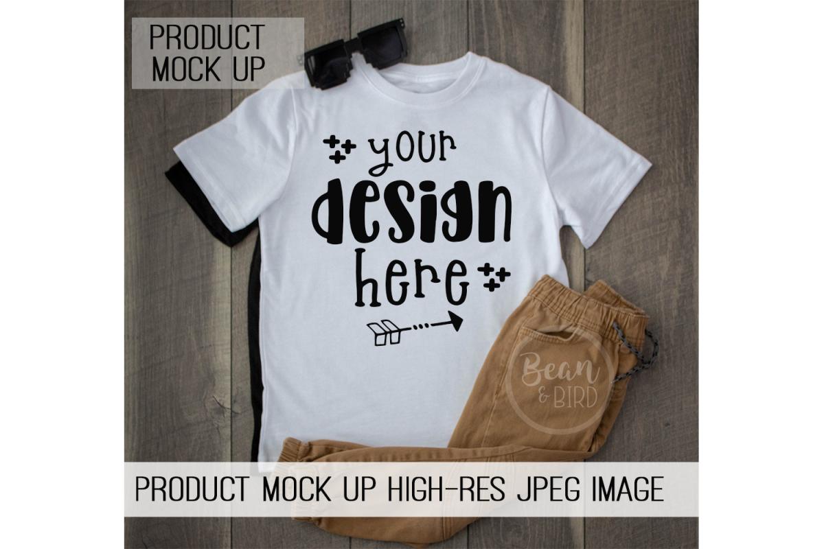 Kids White Shirt Mock up Product Mock up example image 1