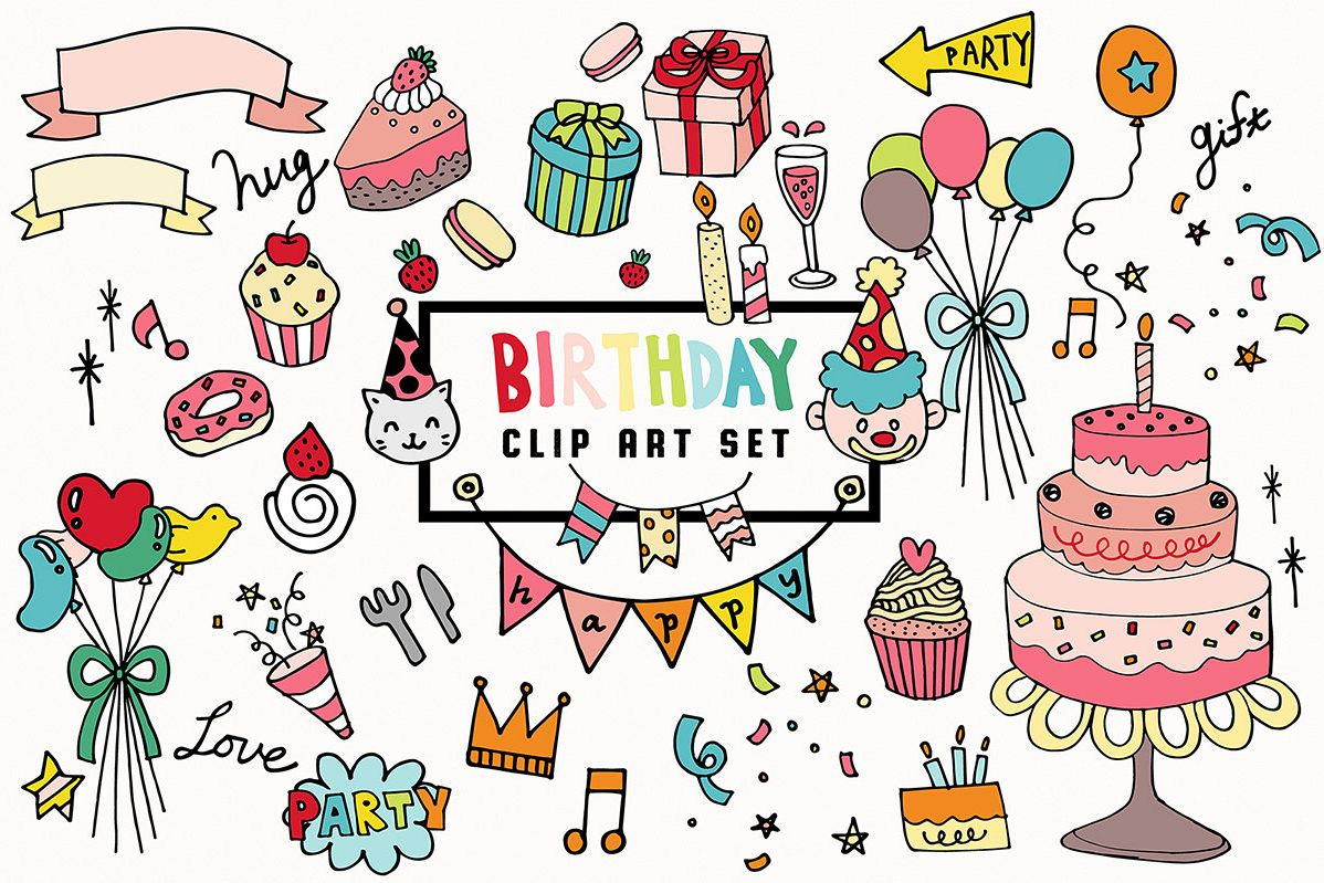 Doodled Illustration 03 Birthday example image 1
