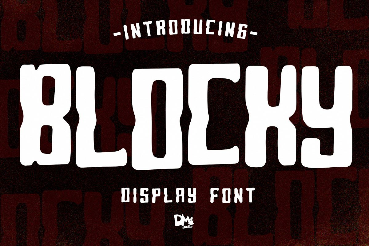 Blocky - Display Font example image 1