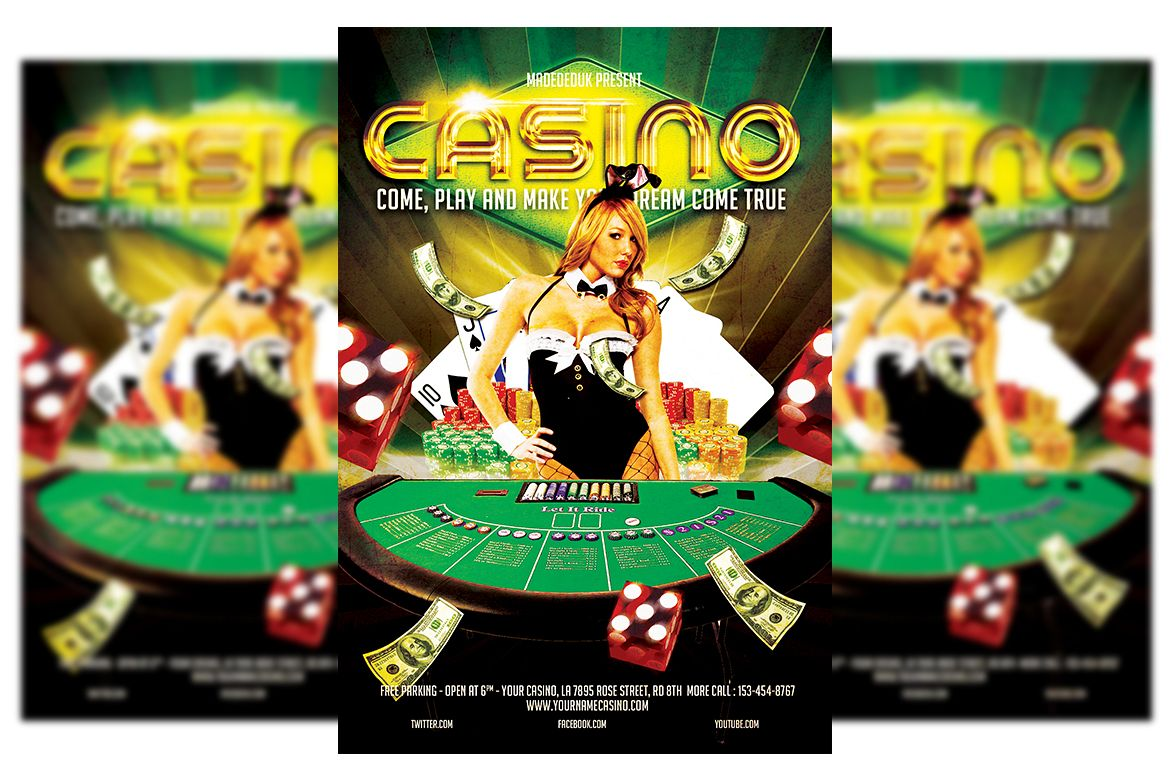 Casino Flyer Template #3 example image 1