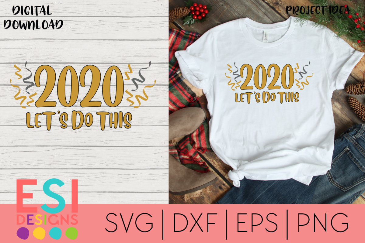 New Years SVG | 2020 Let's Do This example image 1