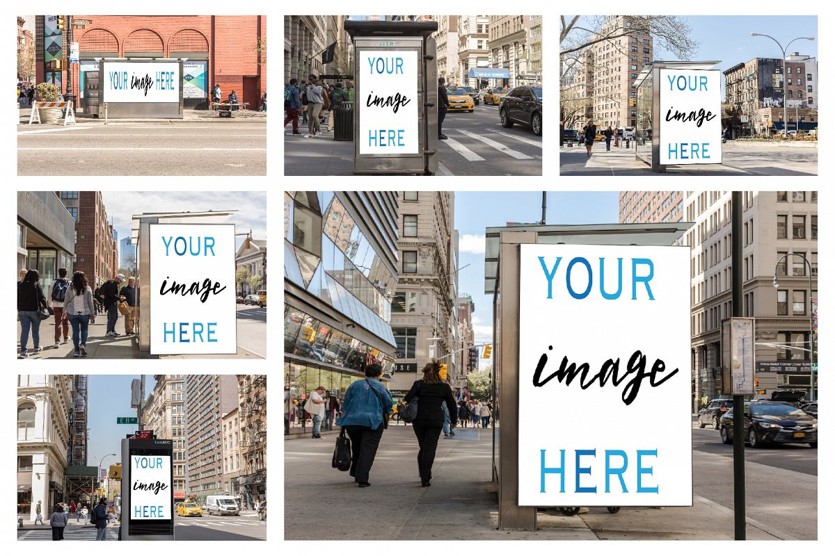 Set of 11 advertising billboard example image 1