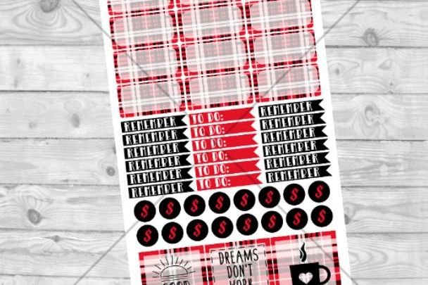 Flannel Digital Sticker Sheet example image 1