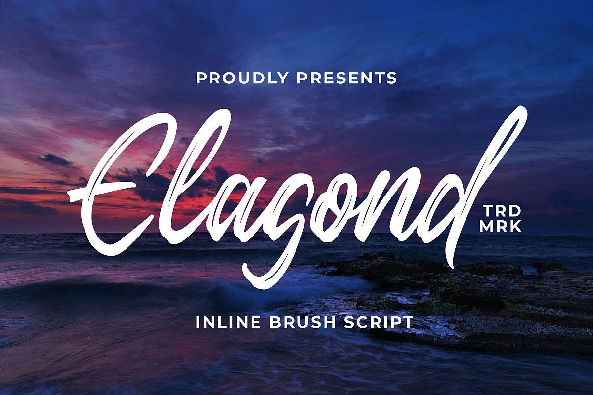 Elagond - Inline Brush Script example image 1
