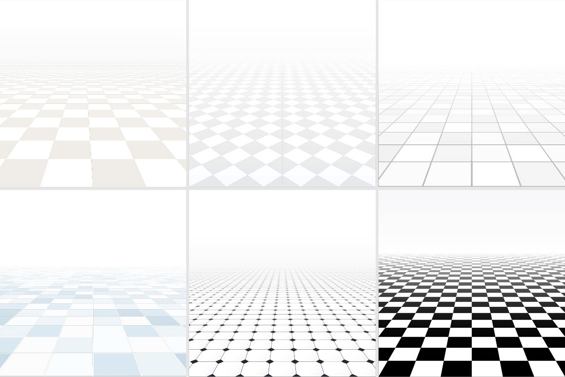Tiled floor with perspective. example image 1
